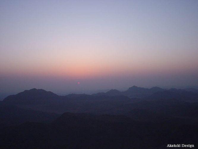 シナイ山の日の出