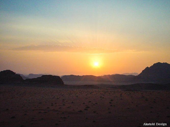 ワディラム砂漠の夜