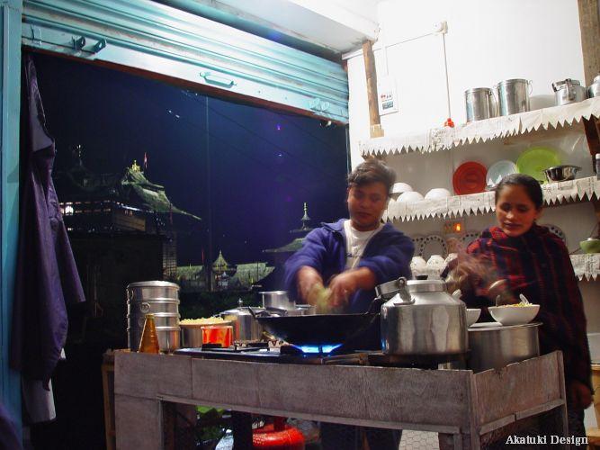 北サラハンの食堂