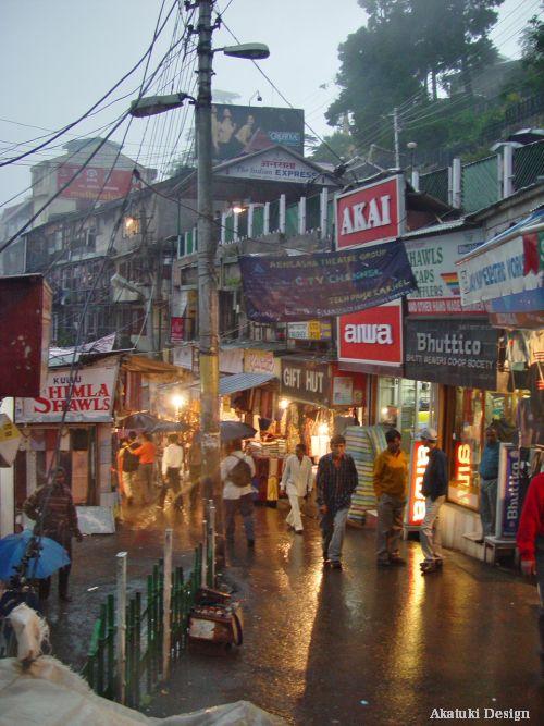 シムラの街並み写真